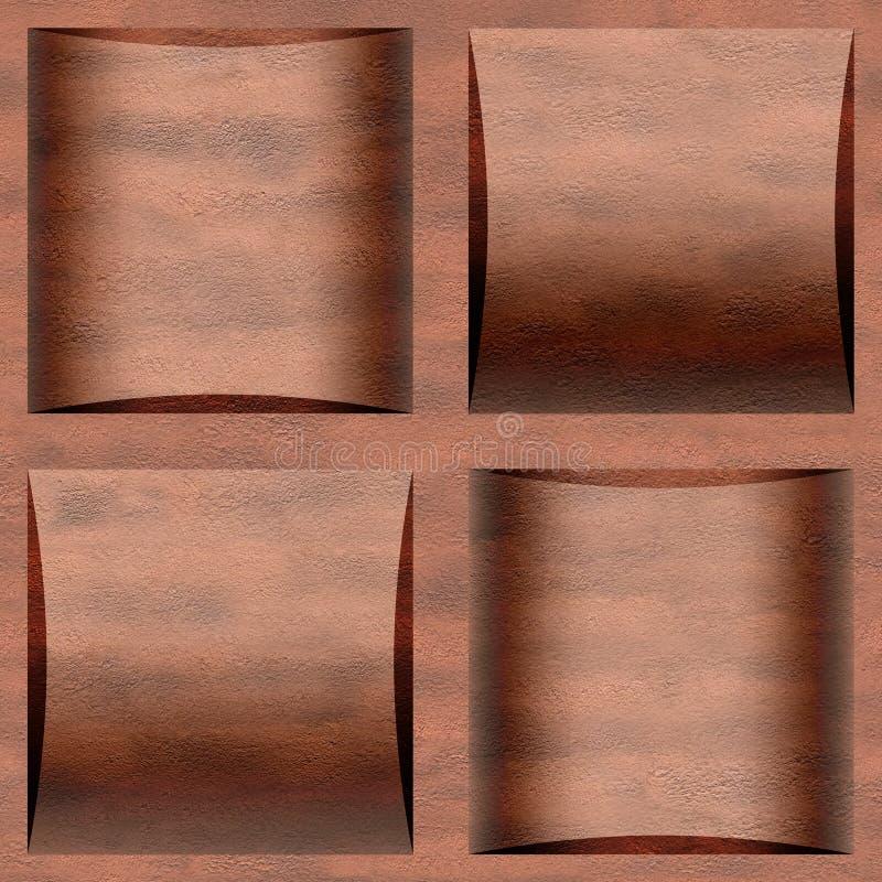 Dekorative Kassette deckt - nahtloser Hintergrund - Kassettenboden mit Ziegeln lizenzfreies stockbild