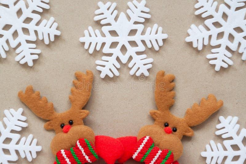 Dekorative Kunst Weihnachtsjahreszeit Grüße stockbild