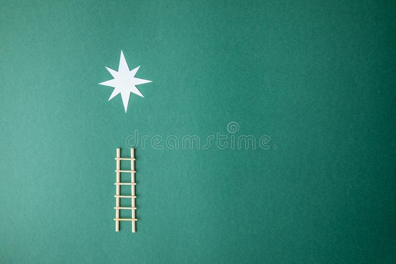 Dekorative Leiter lizenzfreie stockbilder