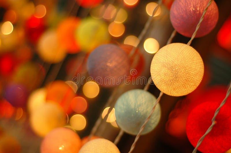 Dekorative Leuchten stockbild