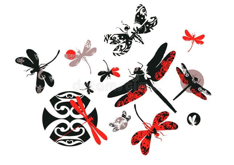 Dekorative Libellen stockfotografie