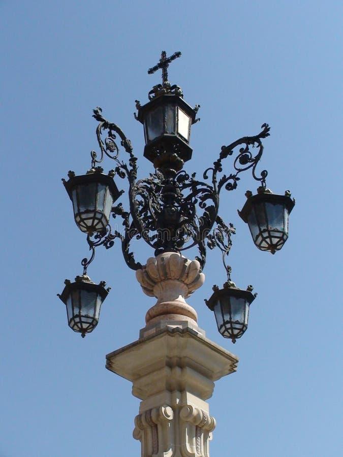 Dekorative Lichter in Sevilla, Spanien lizenzfreies stockfoto