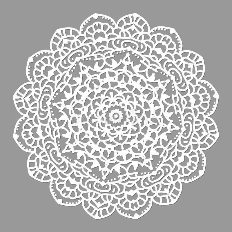 Dekorative Luxusmandala Mehndi-Blume in der indischen Hennastrauchmandalaart vektor abbildung