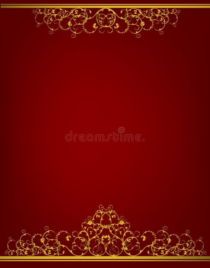 Dekorative Luxuxfahne stock abbildung
