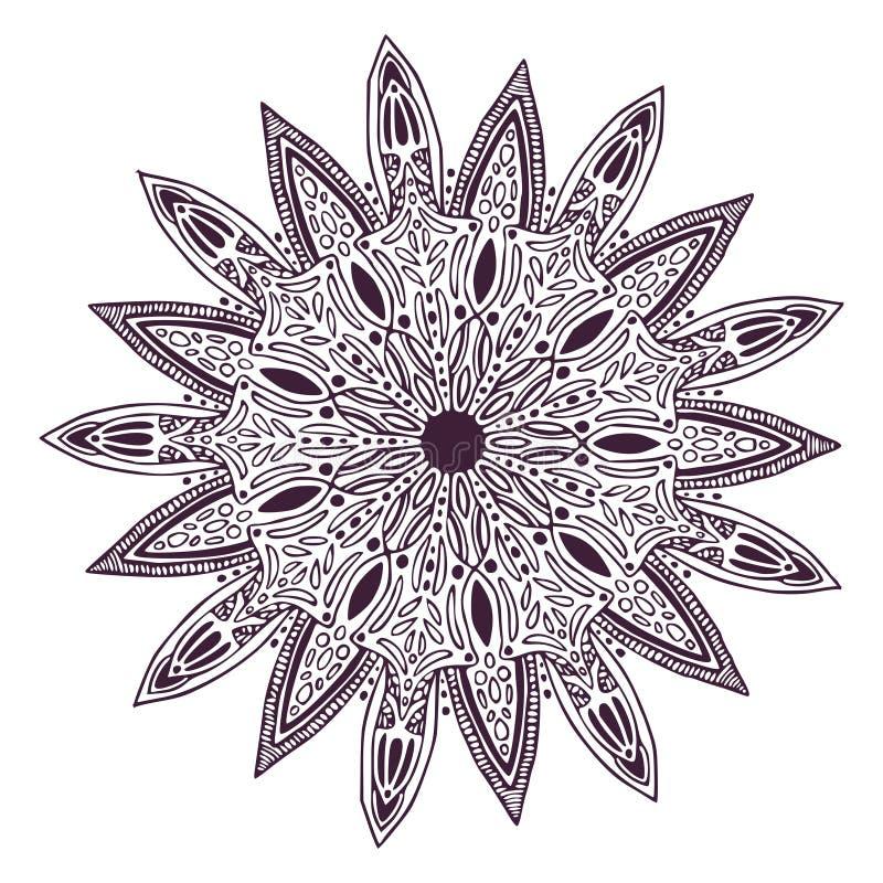 Dekorative dekorative Mandala Teppichverzierungsmuster Innenmandaladruck lizenzfreie abbildung