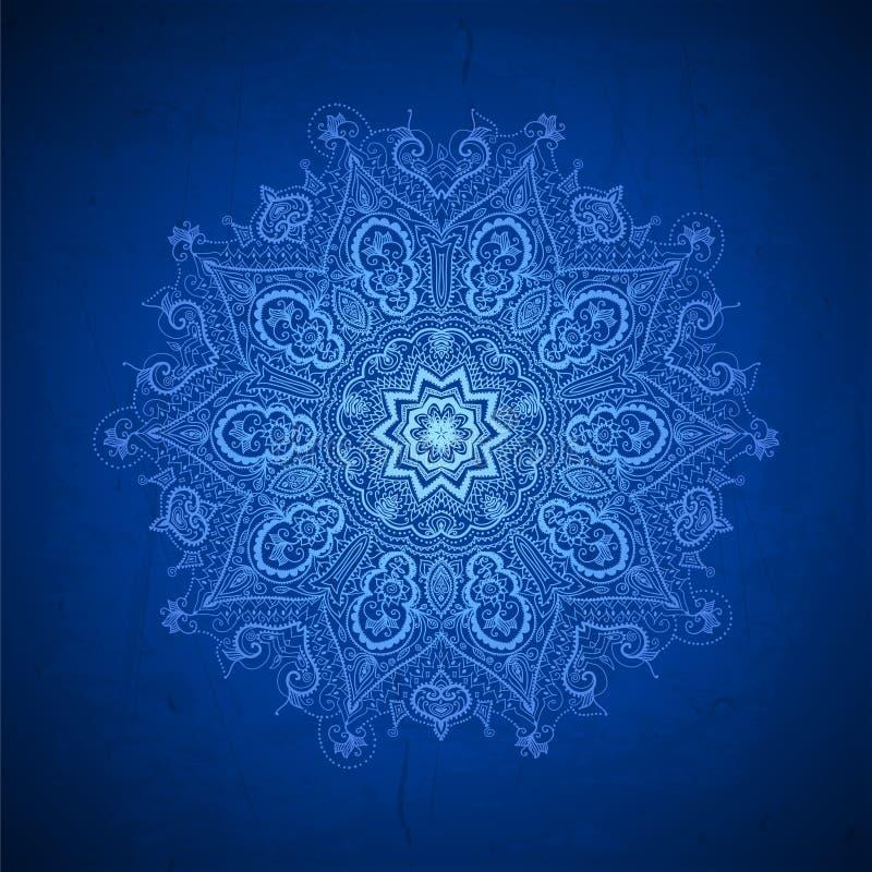 Dekorative mit Blumengrenze des abstrakten Vektorkreises stock abbildung