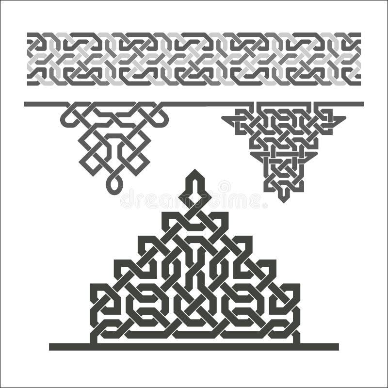 Dekorative nahtlose Grenze vektor abbildung