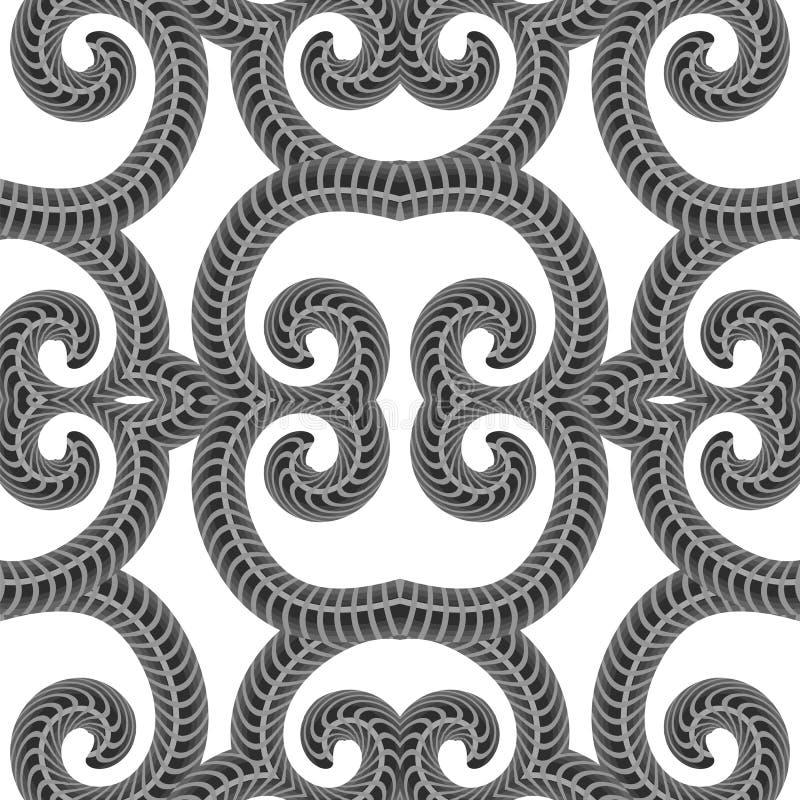 Dekorative nahtlose Linie Muster Endlose Beschaffenheit Orientalische geometrische Verzierung lizenzfreie stockfotos