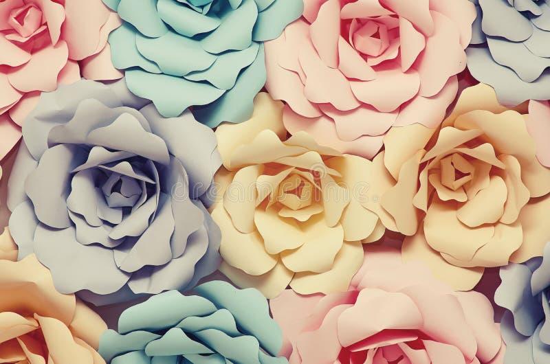 Dekorative Papierblumen lizenzfreies stockfoto