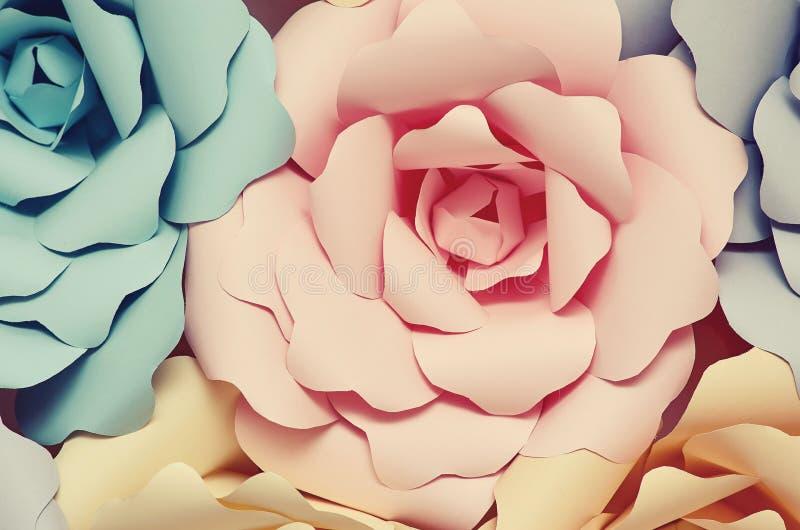 Dekorative Papierblumen stockbild