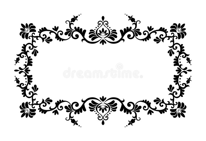 Dekorative Randverzierung stock abbildung