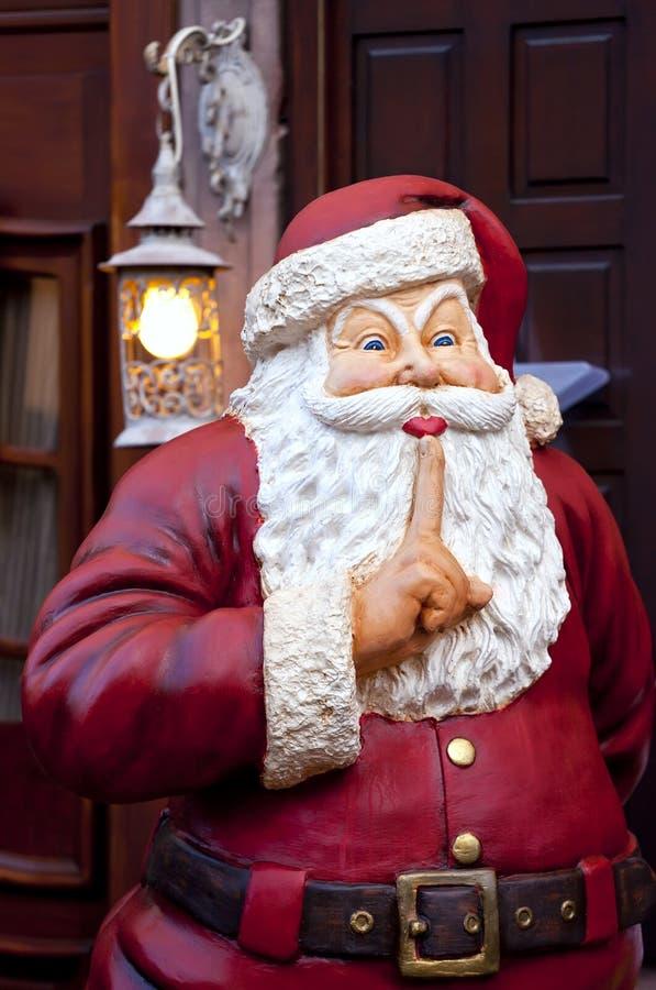 Dekorative Santa Claus-Statue stockbild