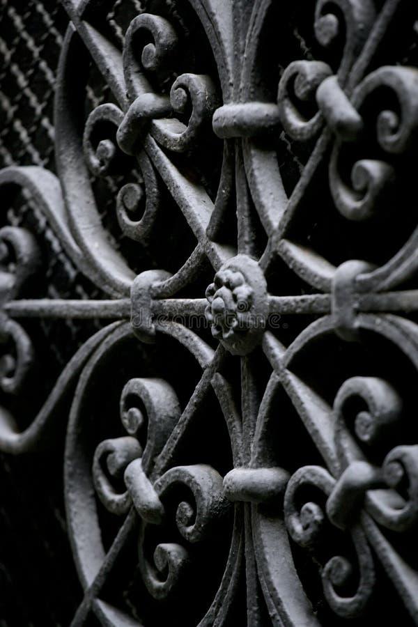 Dekorative Sicherheit des bearbeiteten Eisens lizenzfreies stockbild