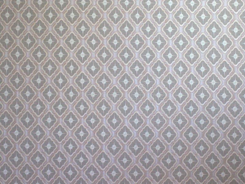 Dekorative silk Tapete, Geo-geometrisches Muster ein Nahaufnahmeschuß stockfotos