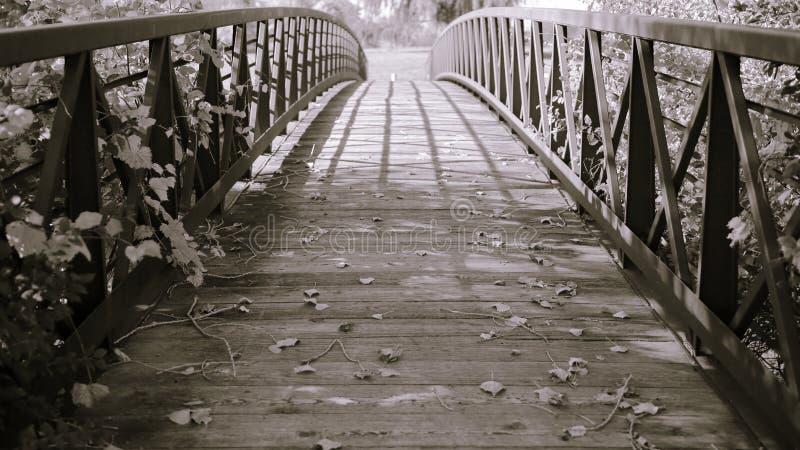Dekorative Spalte-getonte Brücke stockbild