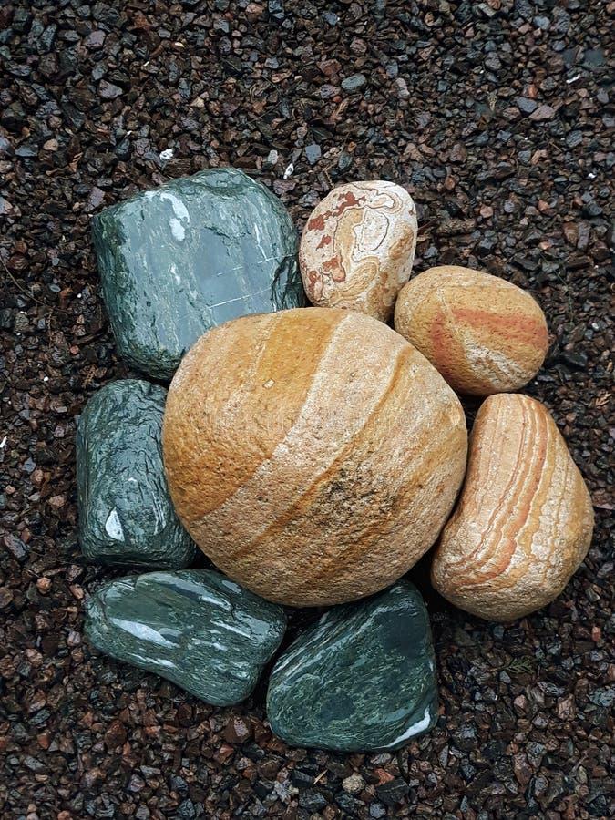 Dekorative Steine stockbilder