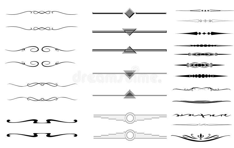 Dekorative Teiler oder Ränder lizenzfreie abbildung