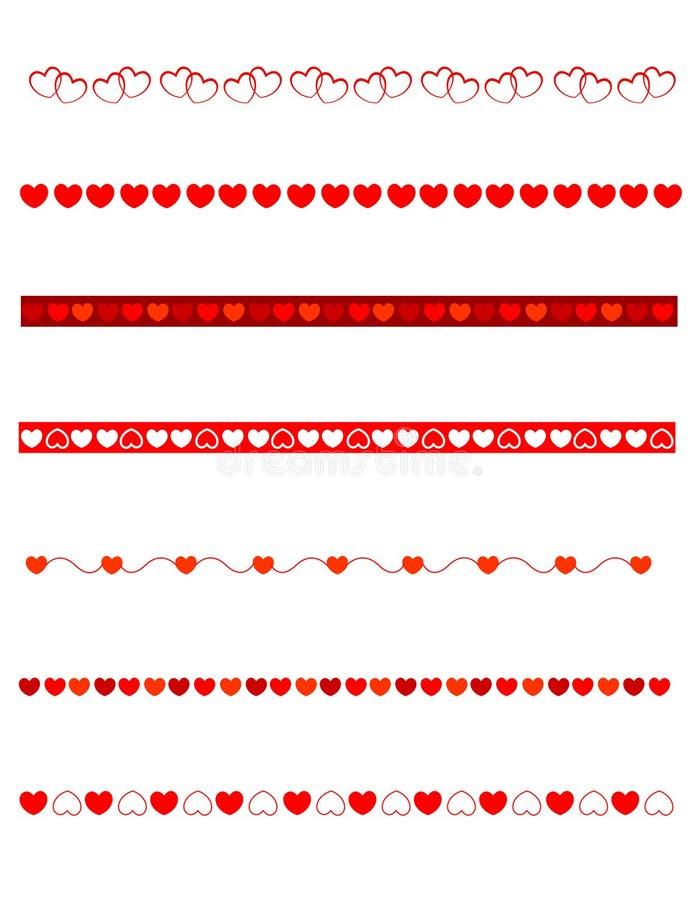 Dekorative Teiler - Valentinsgruß vektor abbildung