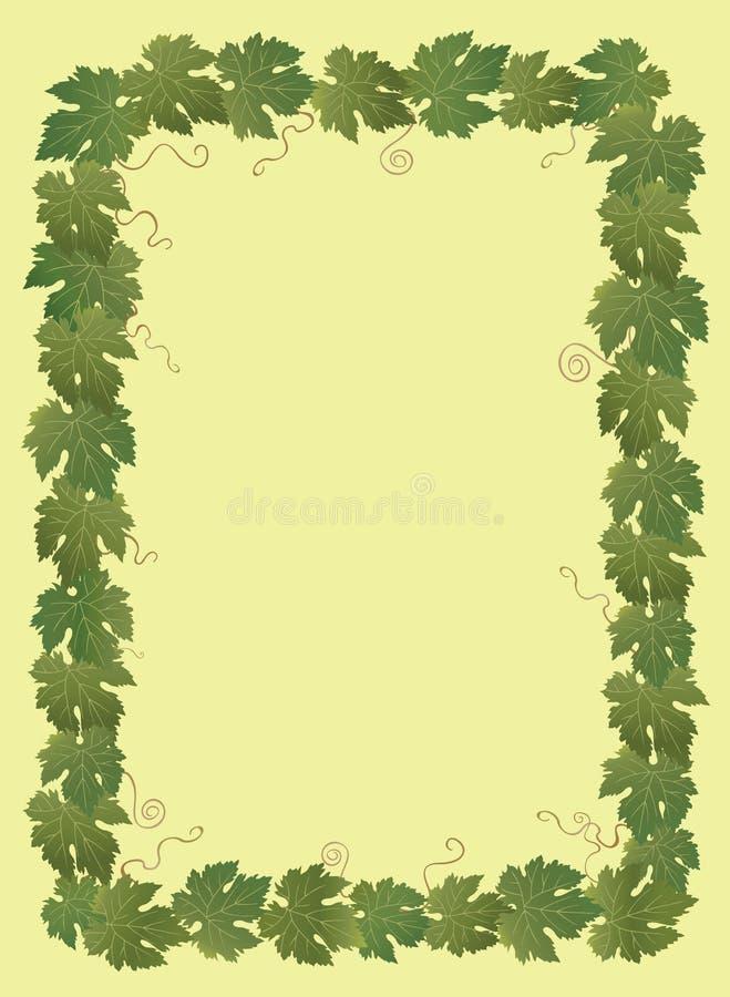 Dekorative Traubenblätter lizenzfreie abbildung