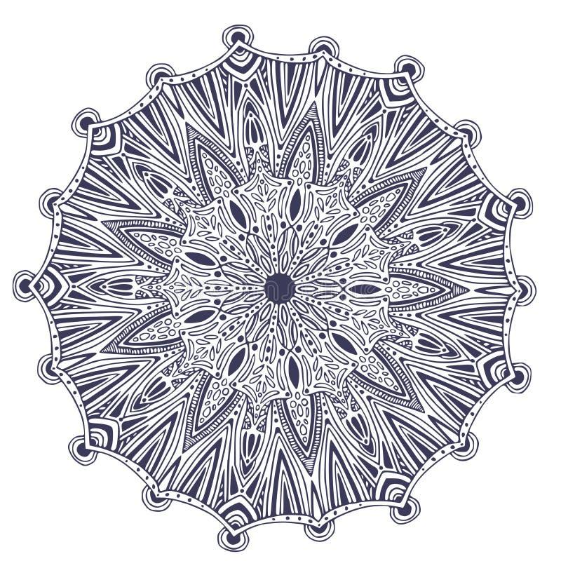 Dekorative Vektor Mandala Abstraktes Verzierungsmuster Innenmandaladruck lizenzfreie abbildung