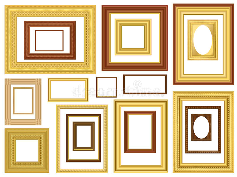 Dekorative vektorbilderrahmen vektor abbildung