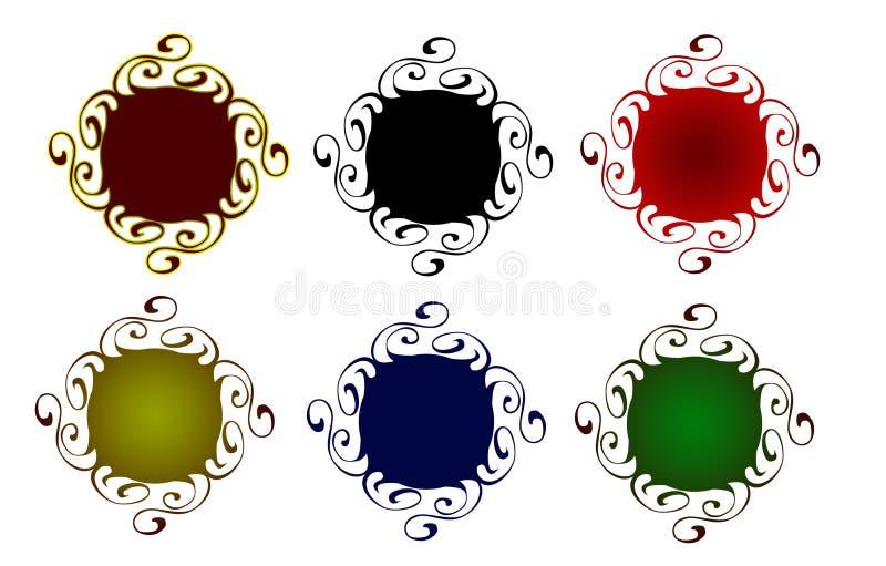 Dekorative Web-Tasten stock abbildung