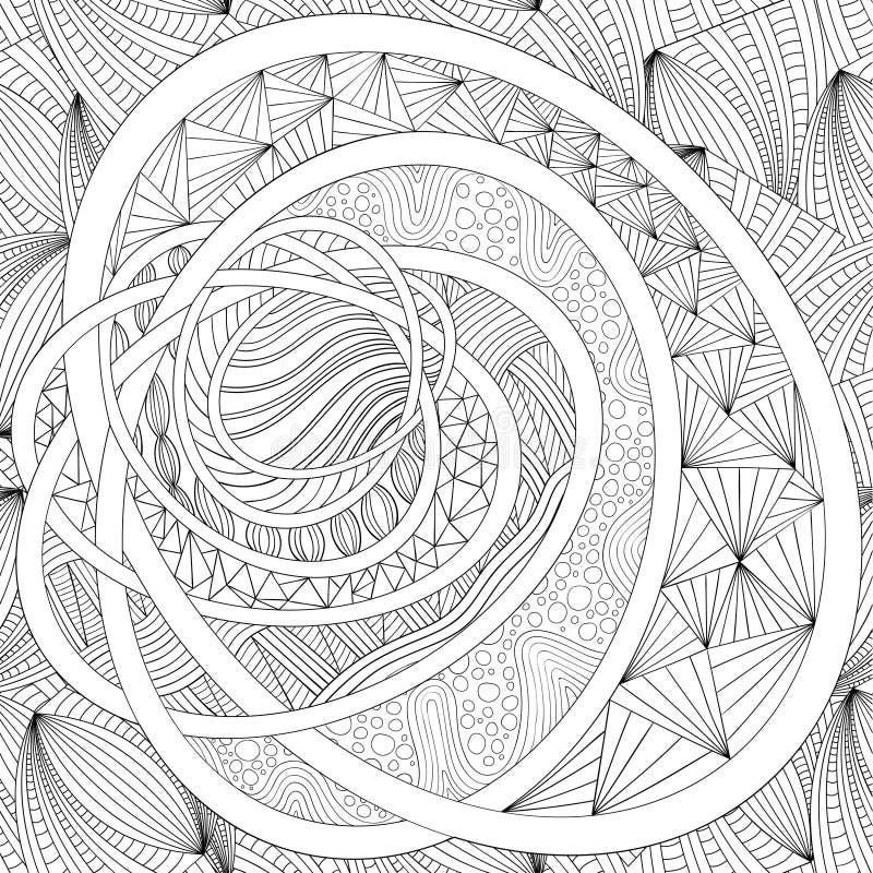 Dekorative Zeichnung Zentangle vektor abbildung