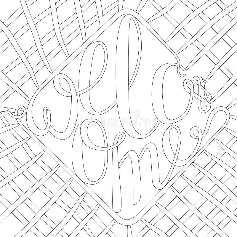 Dekorative Zeichnung Zenverwicklung, lokalisiert auf weißem Hintergrund Übergeben Sie gezogene Skizze für erwachsene Antidruckfar vektor abbildung