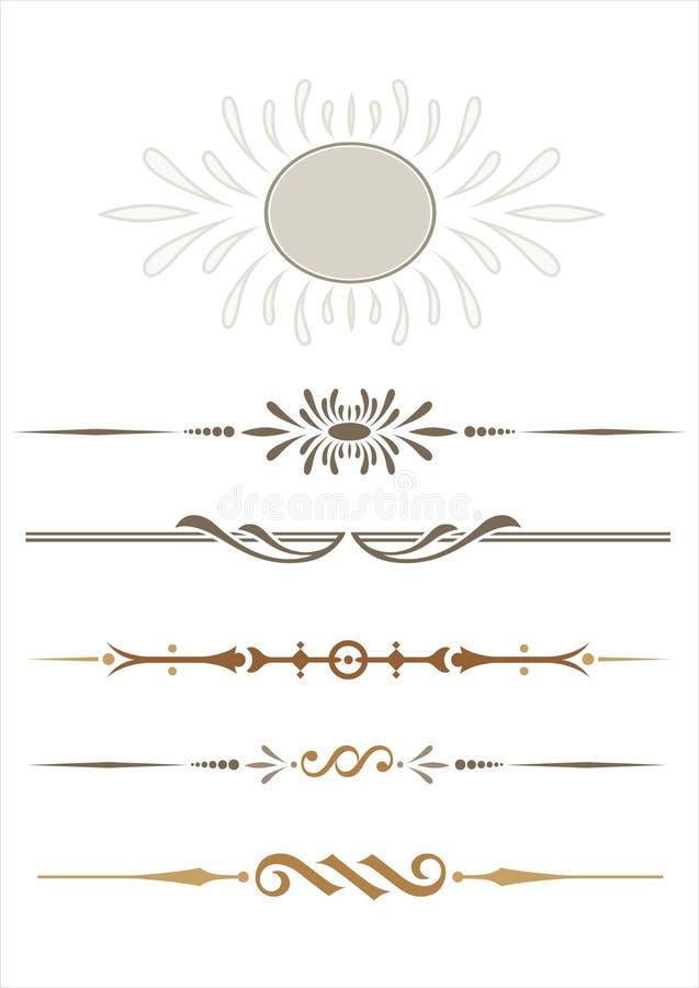 dekorative Zeilen lizenzfreie abbildung