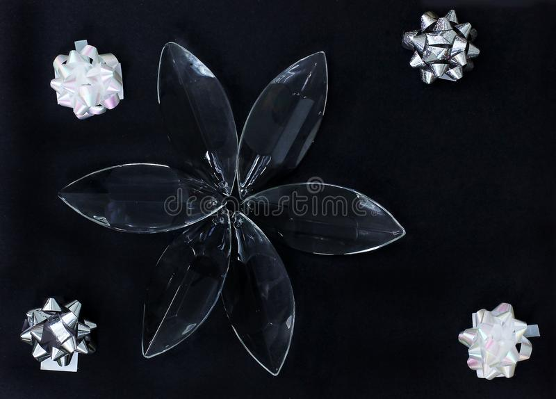 Dekorative Zusammensetzung auf einem schwarzen Hintergrund stockfotos