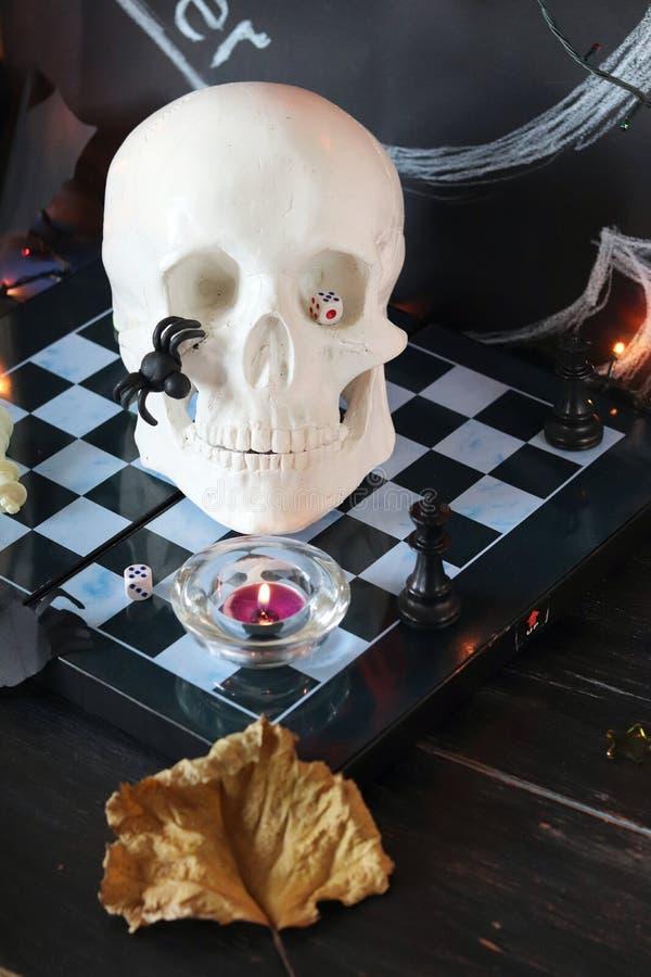 Dekorative Zusammensetzung für Innenausstattung für Halloween lizenzfreies stockfoto