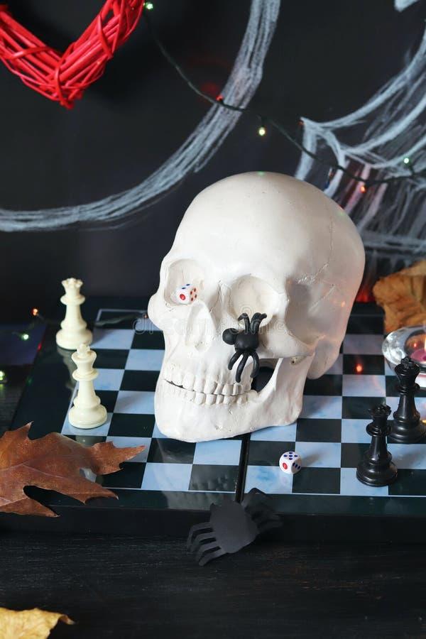Dekorative Zusammensetzung für Innenausstattung für Halloween lizenzfreie stockfotografie