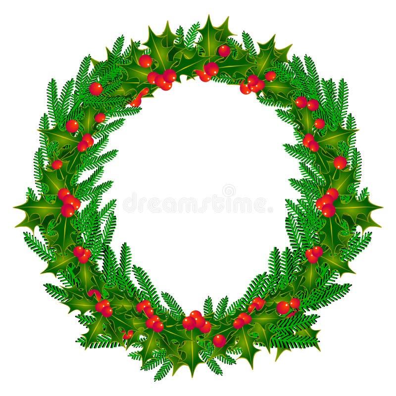 Dekorativer Aufkommen Wreath stock abbildung