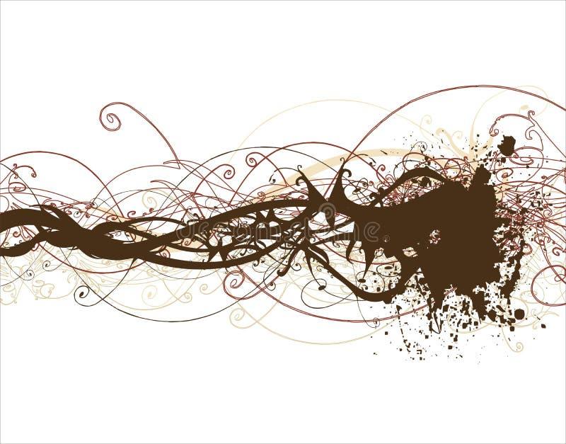 Dekorativer Blumenhintergrund vektor abbildung