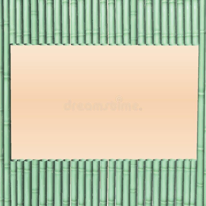 Dekorativer Design Vektor-Rahmenbambus lizenzfreie abbildung