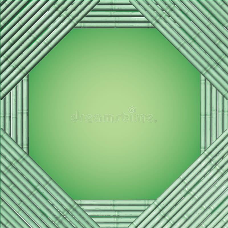 Dekorativer Design Vektor-Rahmenbambus stock abbildung