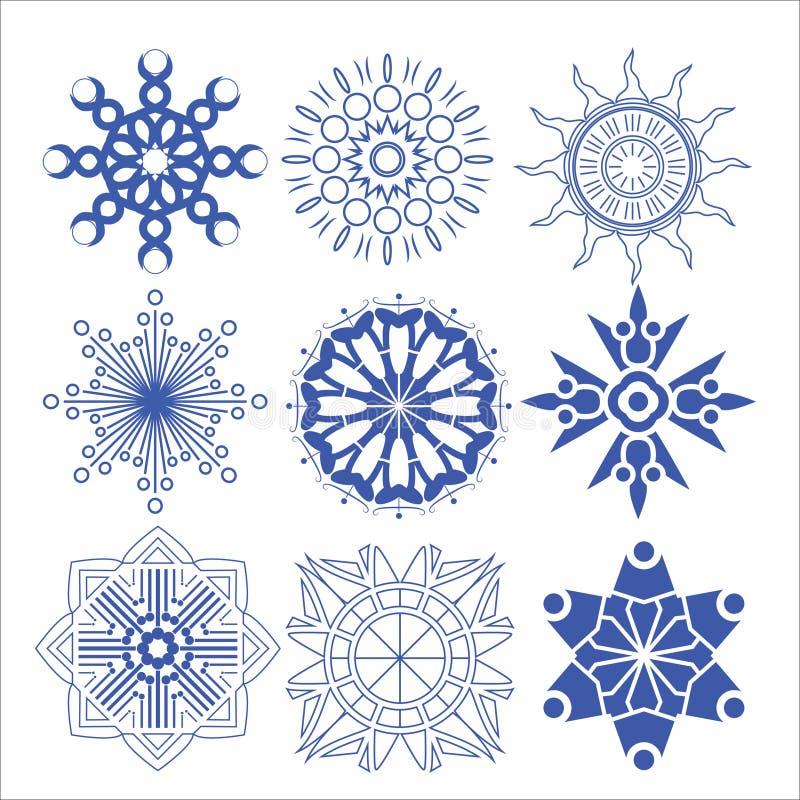Dekorativer Design Vektorkreis und -blume lizenzfreie abbildung