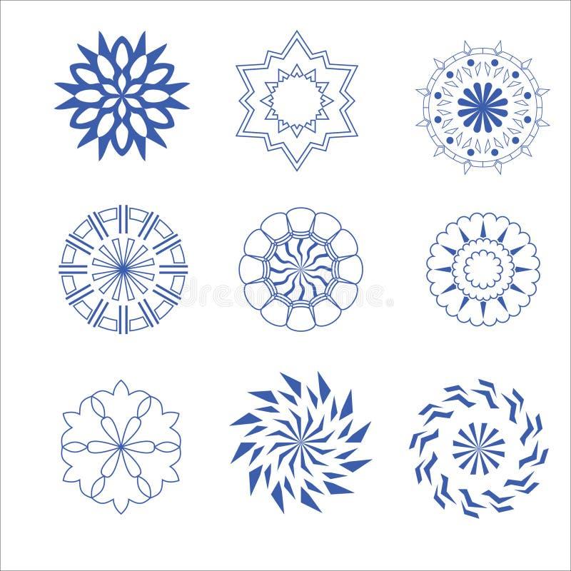 Dekorativer Design Vektorkreis und -blume vektor abbildung