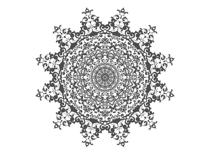 Dekorativer Elementhintergrund der abstrakten Kreismandala lizenzfreie abbildung