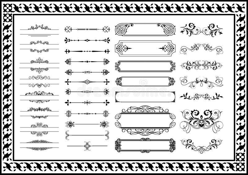 Dekorativer Florenelementsatz und andere Produkte Ihrer Arbeit stock abbildung