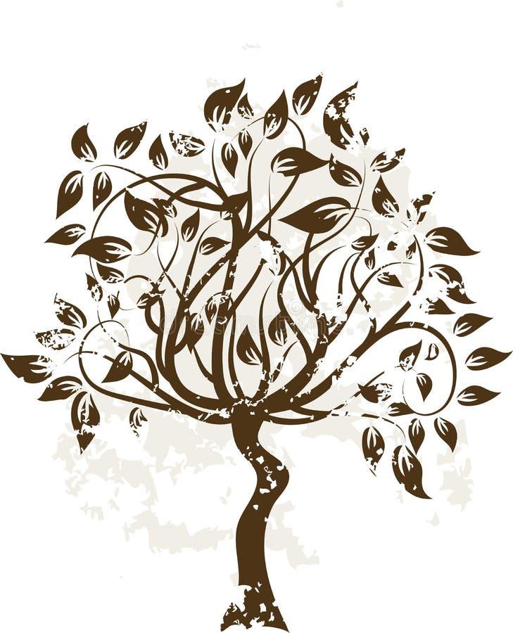 Dekorativer grunge Baum lizenzfreie abbildung