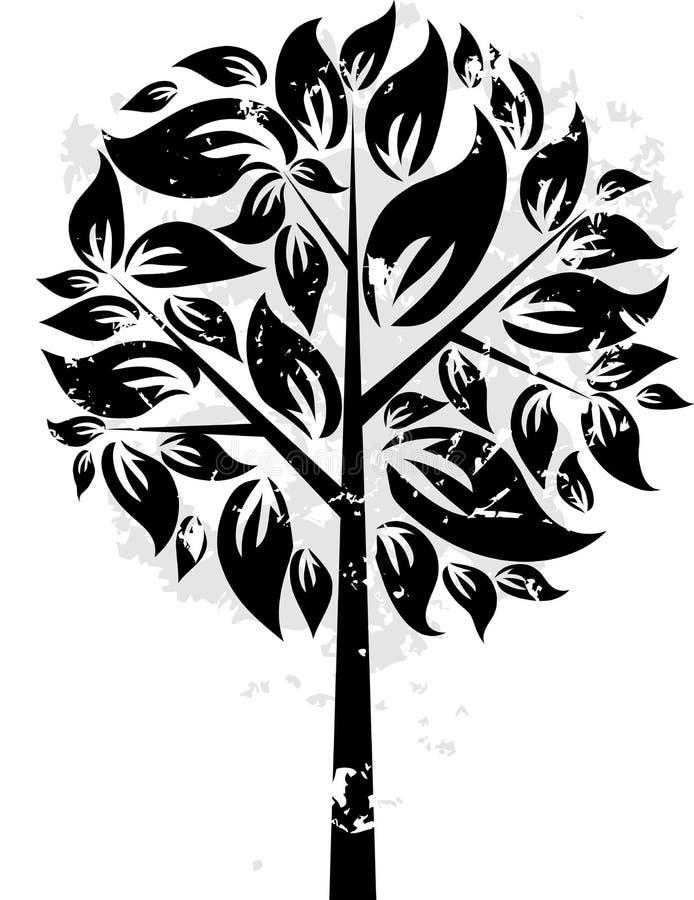 Dekorativer grunge Baum, Vektor lizenzfreie abbildung
