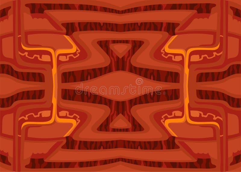 Dekorativer Hintergrund des abstrakten Vektors einer futuristischen Umwelt der roten Farbe stockbild