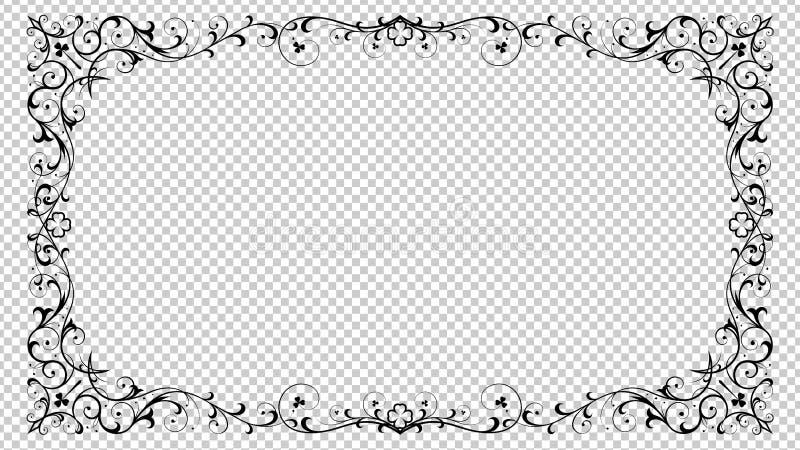 Dekorativer Lucky Shamrock-Grenzrahmen lizenzfreie abbildung