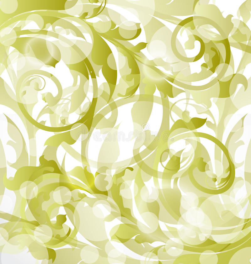 Dekorativer mit Blumenhintergrund, Auslegungelemente vektor abbildung