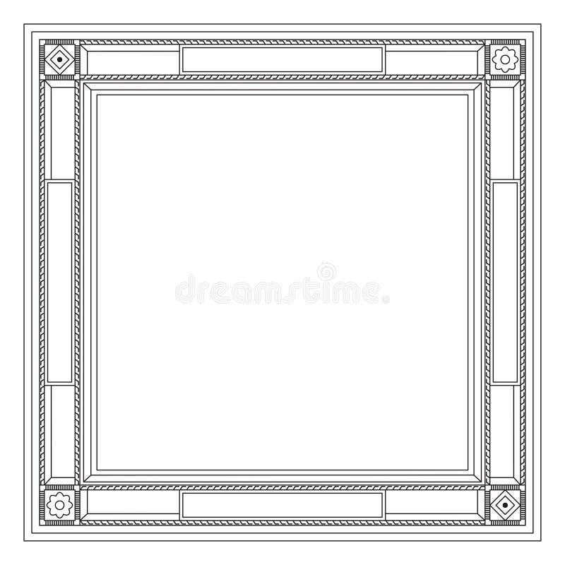 Dekorativer Moderner Rahmen Vektor Abbildung - Illustration von ...