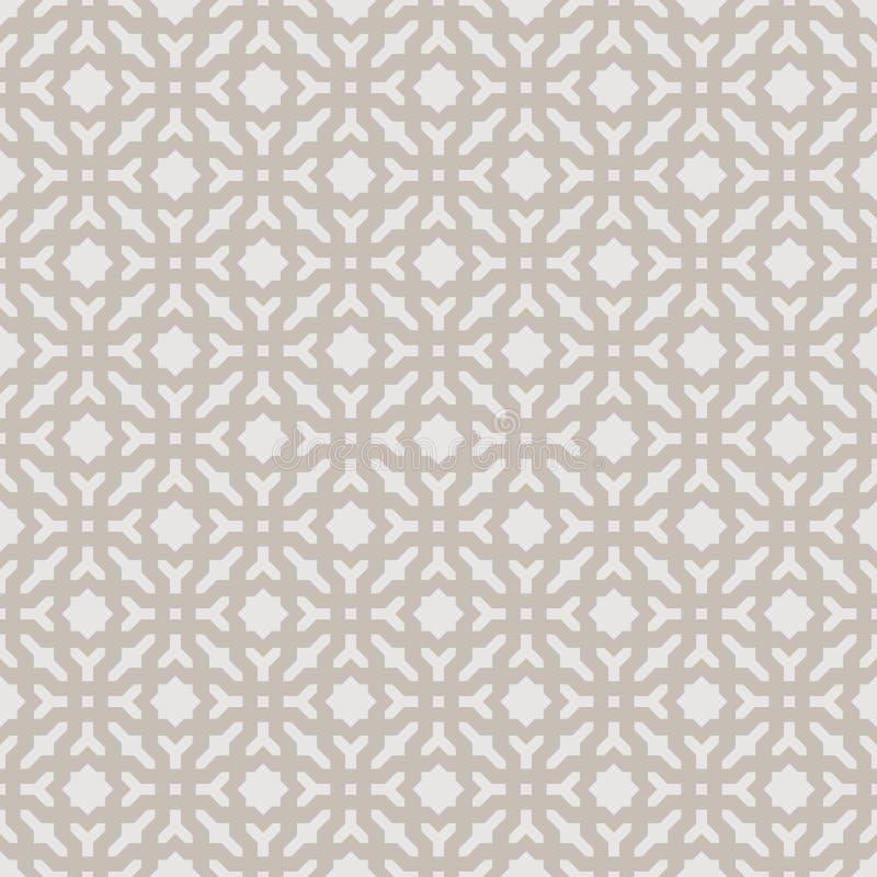 Dekorativer nahtloser geometrischer Vektor-Muster-Hintergrund vektor abbildung
