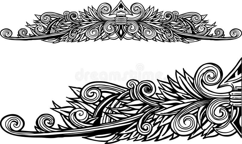 Dekorativer Pfeilspitzen-Rand stock abbildung