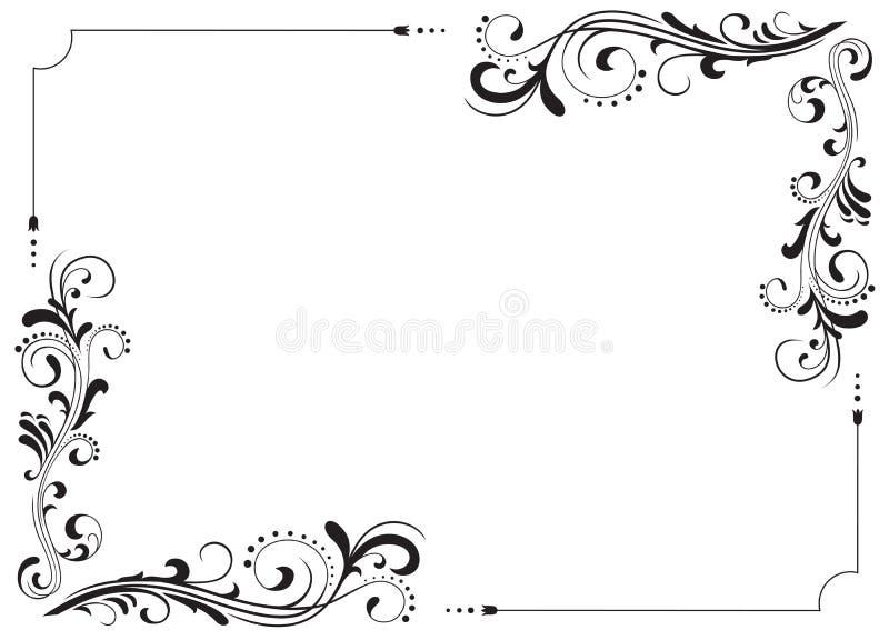 Dekorativer Rahmen stock abbildung