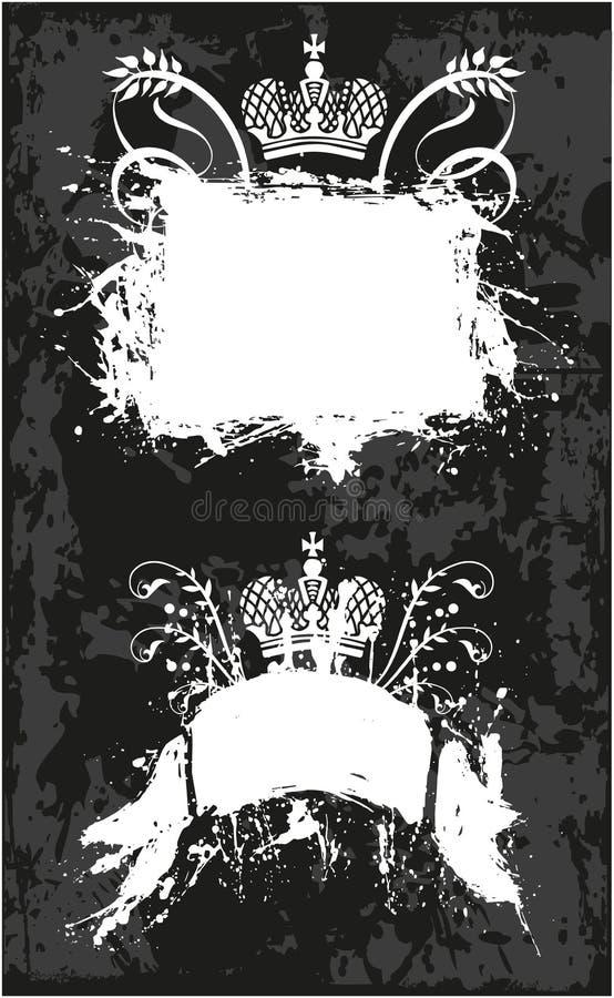 Dekorativer Rahmen mit Krone stock abbildung